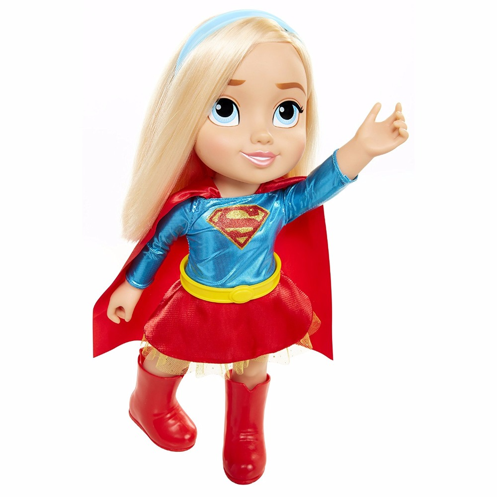 Original DC SUPPER Hero Girls SUPPERGIRL 37cm <font><b>Princess</b></font> <font><b>Toddler</b></font> Doll girl's gift Color box Hair can be combed Lovely image