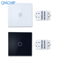 1pc 433 MHz Wall Light Touch Switch AC 100 240V LED Indicator With Wireless Receiver Luxury