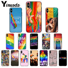 Etui Yinuoda lesbien LGBT arc-en-ciel Gay Pride ART en Silicone souple pour iPhone X XS MAX 6 6S 7 7plus 8 8Plus 5 5S XR(China)