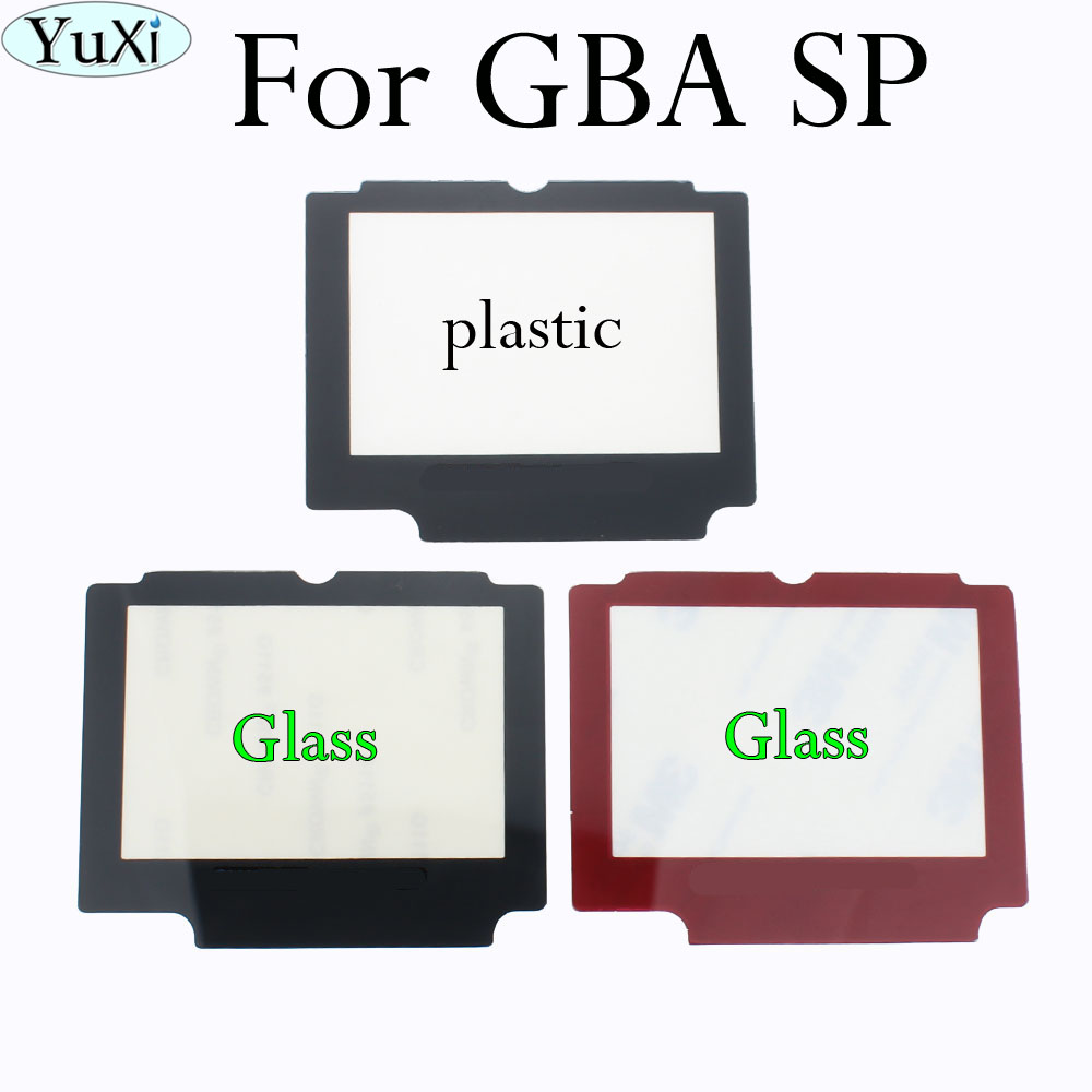 YuXi For GameBoy Advance SP For GBA SP Protector Plastic Glass Screen Lens For Nintendo Game Boy