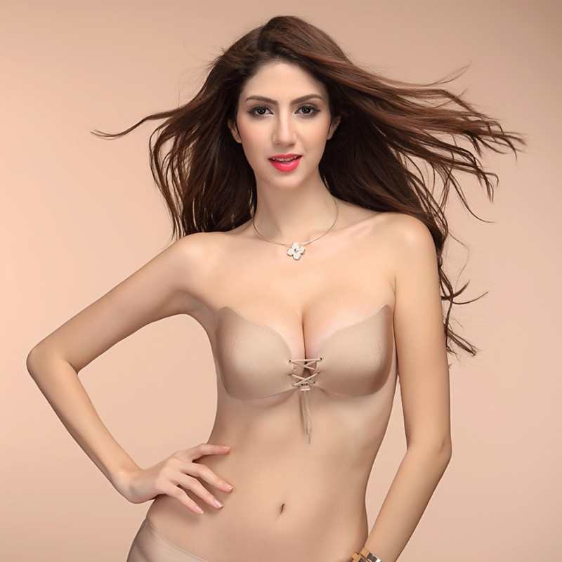 328413685d78b Sexy woman Self-Adhesive bra Bust Front Closure Silicone Seamless Strapless  Bra Invisible Push up bras Breast Petals