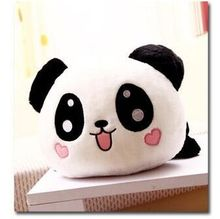 small cute plush lying panda toy small smile panda doll with hearts on face gift about 25cm
