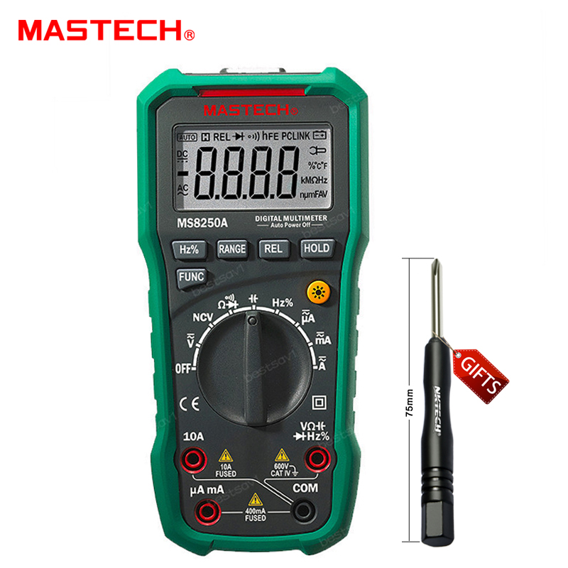 ФОТО MS8250A Digital Multimeter Auto Range Tester Detector Universal Meter Mastech MS8250A