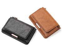 Outdoor Belt Clip Mobile Phone Leather Case Zipper Card Wallet For Galaxy S8 Plus S8 C7