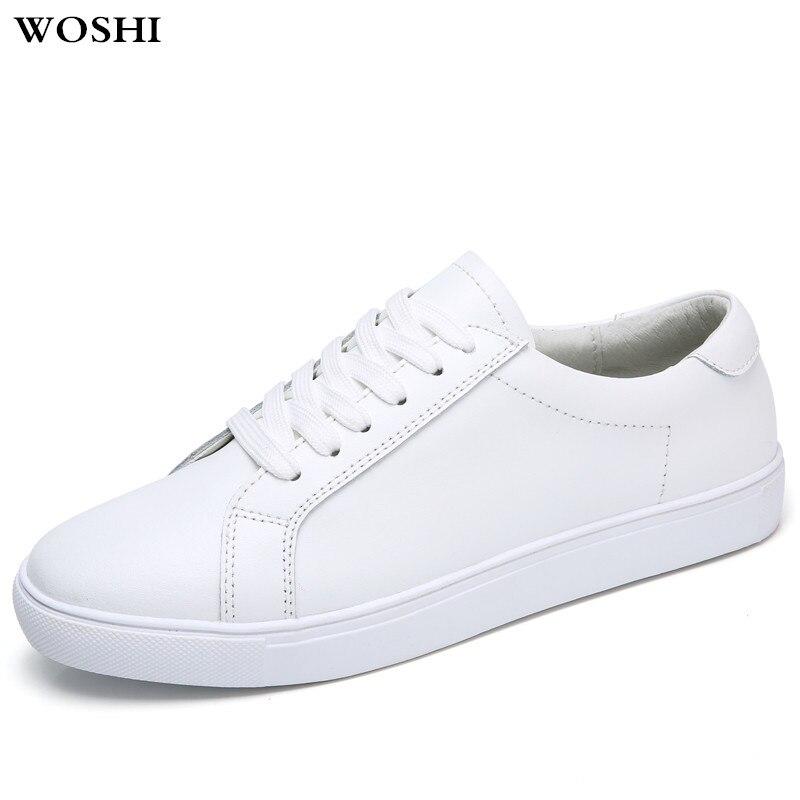 f72d35c876e3a0 Femmes Confortable Lacets Cuir Mocassins Black K4 Respirant En white À  Chaussures Appartements Sneakers Oxford Bout ...
