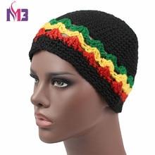 2017 Winter Unisex Women Men Knitted Rasta Hat Warm Handmade Crochet Hat Jamaica Style Beanie Caps Bob Marley Rasta Reggae Hat недорго, оригинальная цена
