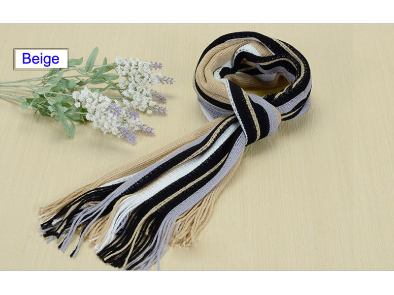 Hot Mens Cashmere Scarf Winter Warm Soft Fringe Striped Tassel Long Shawl Wrap Y