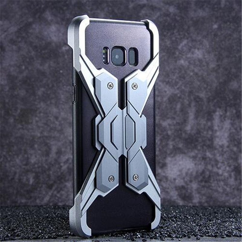Anti-Knock Screw Up Metal Bumper For Samsung Galaxy S8 Plus Case Luxury Combined Armor Phone Case For Samsung note 8 NOTE8 Cover