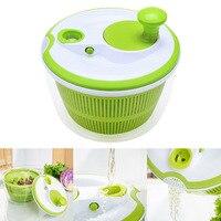 Creative 5L Large Capacity Salad Spinner Pouring Spout Vegetables Dryer Sieve Strainer Colander Basket High Quality 8 JU07 DC120