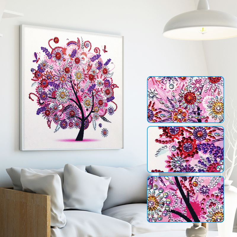 RUBOS DIY 5D Diamond Embroidery Colorful Tree Butterfly Bead Diamond Painting Cross Stitch Pearl Crystal Sale Hobby Gift Decor (21)