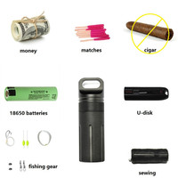 OneTigris Capsule Sealed Bottle Waterproof Pill Case EDC Container for 18650 Batteries Fishing Camping Hiking Emergency Kit