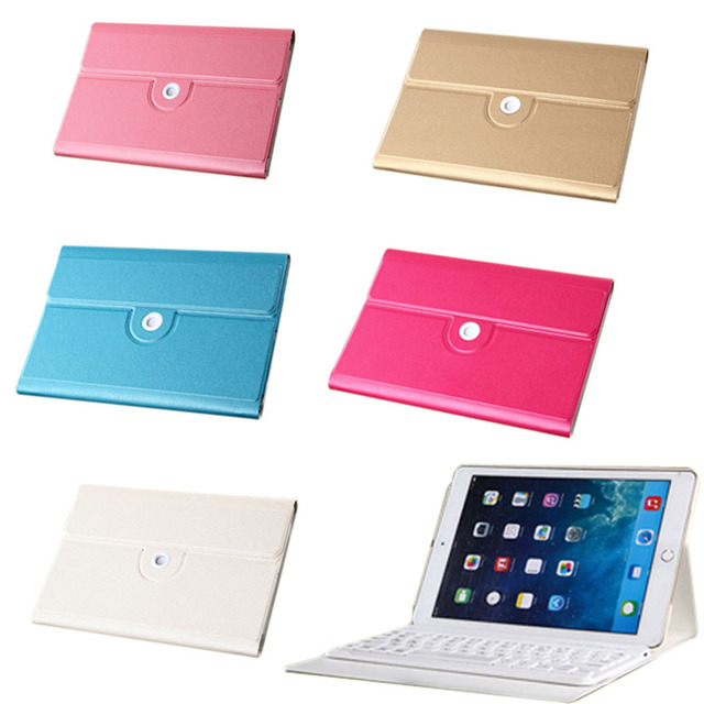 New Built-in Battery Wireless Bluetooth Keyboard + PU Leather Stand Case Cover For iPad Mini 2 3 4 Tablets