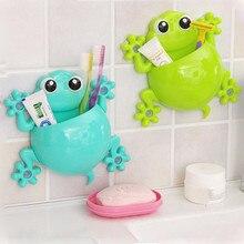 Милая мультяшная домашняя ванная настенная подставка для зубных щеток, крепление на присоске, зубная паста, стеллаж для хранения зубных щеток, Детская стойка