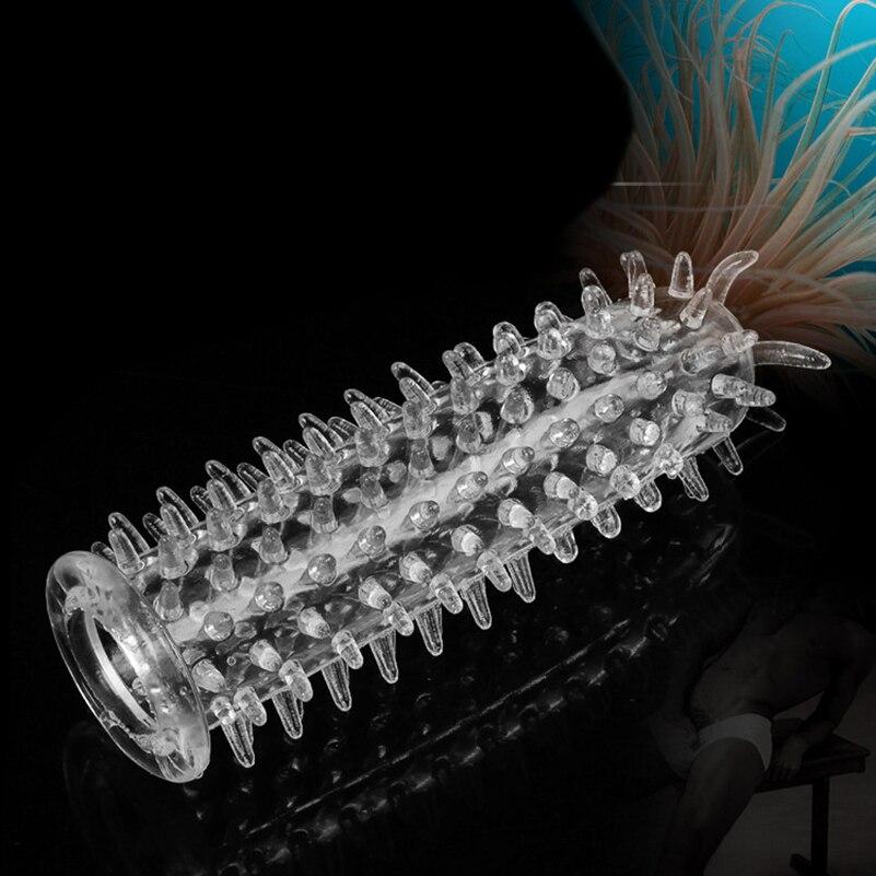 Candiway Delay Erection Cock Ring Vibrator Sleeve Full Cover Penis Reusable Impotence Extensions Dildo G-spot Porn Sex Toys Men
