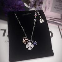 New Hot 925 Sterling Silver Bee Clover Pendant Necklace Clavicle Short Choker Best Gift For Women