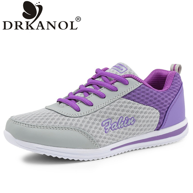 DRKANOL 2017 New Arrival Women Casual Shoes Fashion Lightweight Lace Up Breathable Air Mesh Summer Women Shoes Zapatos mujer high quality men casual shoes fashion lace up air mesh shoe men s 2017 autumn design breathable lightweight walking shoes e62