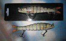 142mm/30g 8 Sections Minnow Herring Swimbait Hard Bait Lifelike Bass Carp Pike Fishing Lure Fishing Hook Fishing Tackle