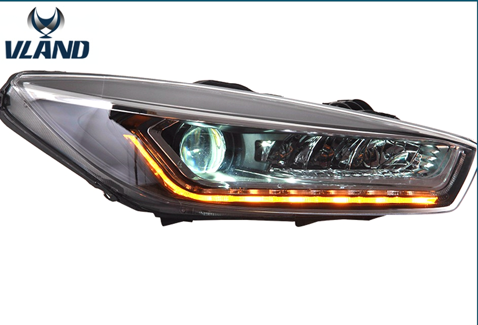 купить Free shipping Vland Car Head Lamp for Chevrolet Cruze LED headlight front lamp led DRL HID Bi-Xenon Lens low beam 2014-2015 недорого