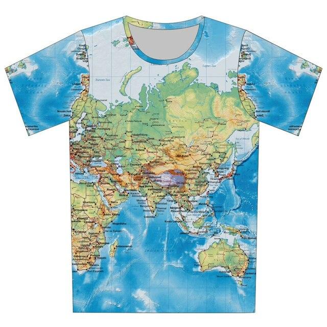 Мальчик девочка мода 3D футболка с коротким рукавом 3D печать карта пицца галактики кот дизайна продуктов питания футболка детей 2016 лето тройник вершины