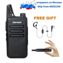 SHIP FROM RUSSIA AIRFREE AP-100 Ultra-thin Mini Walkie Talkie better than BF-888S UHF long range WLN KD-C1 Two-Way Radio