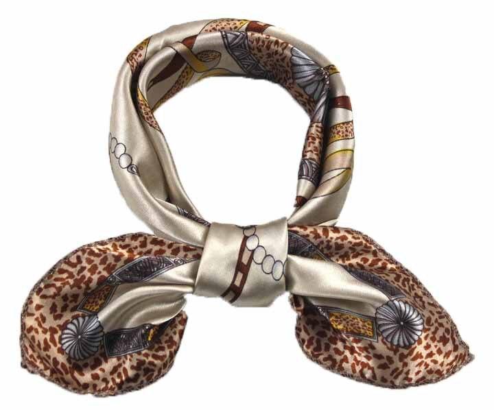 Women's professional neckerchief small size 50*50 beautiful square   scarf   bag   wraps   Stewardess' silk collar scarfs Style 10