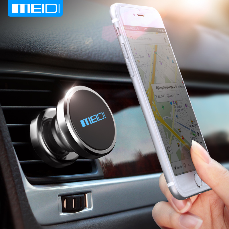 MEIDI Metal 360 Degree Universal Magnetic phone Car Holder stand Mobile Phone Holder Paste for iphone 5 6 7 Car Phone Stand