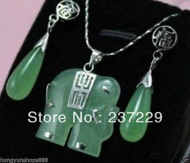 Wholesale Price Free Shipping Pretty Green Stone Carved