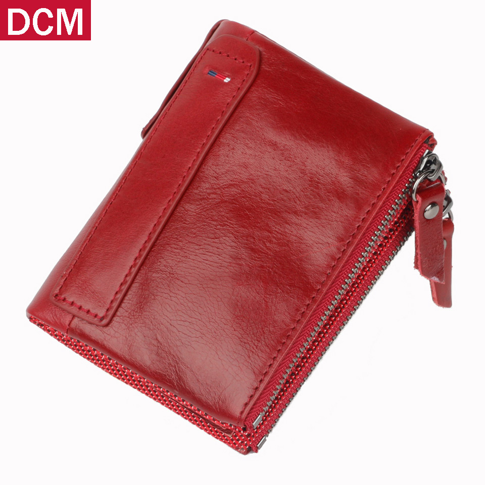 Leather Wallet Crazy Horse Women Wallets Brand Design Genuine Cow Female Hasp Mini Wallet Rfid Womens Wallets And Purses