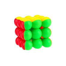 YJ8347 Flourescent Round Beads 3x3x3 Magic Cube – Colorful
