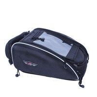 Sport Expandable Black Motorcycle Seat Tail Storage Bag Street Bike Motorcycle Tank Bag Motorbike Black Compact