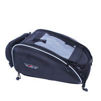 Sport Expandable Black Motorcycle Seat Tail Storage Bag Street Bike Motorcycle Tank Bag Motorbike Black Compact