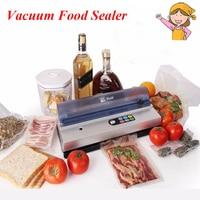 1pc Full Automation Small Commercial Vacuum Food Sealer Vacuum Packaging Machine Family Expenses Vacuum Sealer DZ