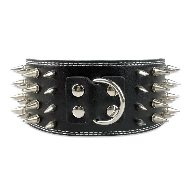3 inch Wide Spiked Studded Pitfull Collar