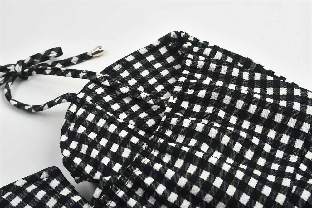 клетчатое платье с открытой спиной сарафан женский летний 2019 платья больших размеров обтягивающее платье на тонких бретельках летние платья и сарафаны короткое платье без рукавов 8021