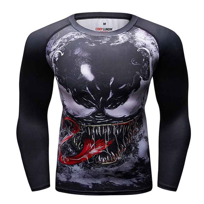 Rashguard Mma Muay Thai T Shirt Men Sport Jersey Anime Printed Long Sleeve Compression Tights Boxing Shirt Muaythai Sweatshirt