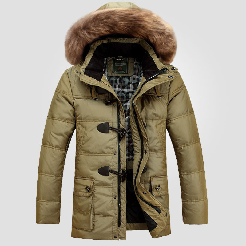 Down Jacket 2016 New Fashion Winter Jacket Men Down Coat Long Thick Warm Outwear Hooded Mens Parka Outerwear Big Size 4XL W145