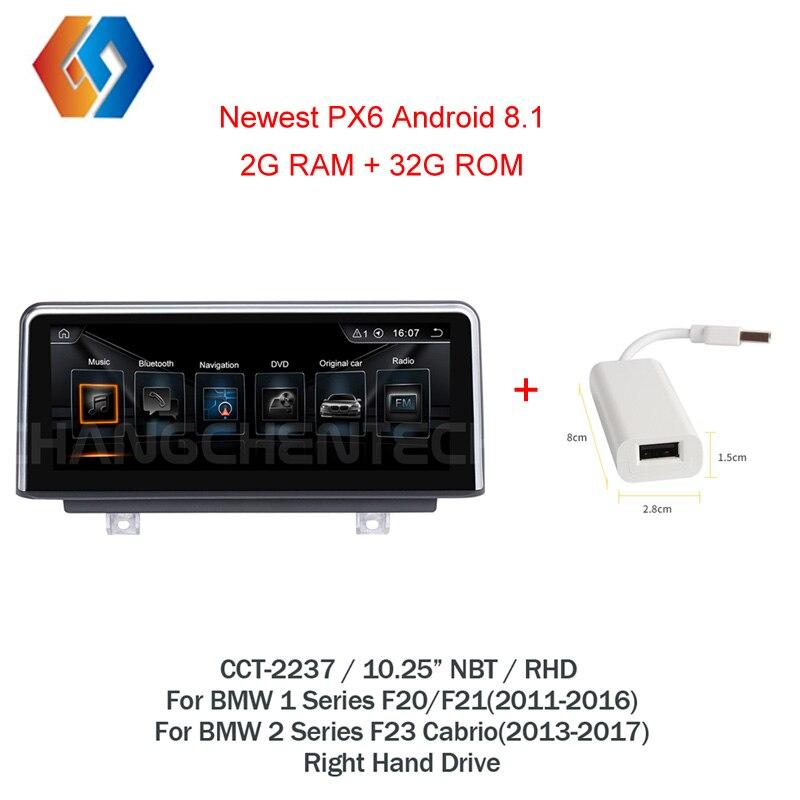 10,25 ips сенсорный автомобильный gps стерео для BMW 1 2 серии F20 F21 2011 2016 F22 23 Быстрая доставка Android 8,1 НБТ Мультимедиа Радио RHD 37