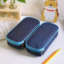 Korea Multifunction School Pencil Case Bags Large Capacity Canvas Pen Curtain Box For Boy Students Gifts