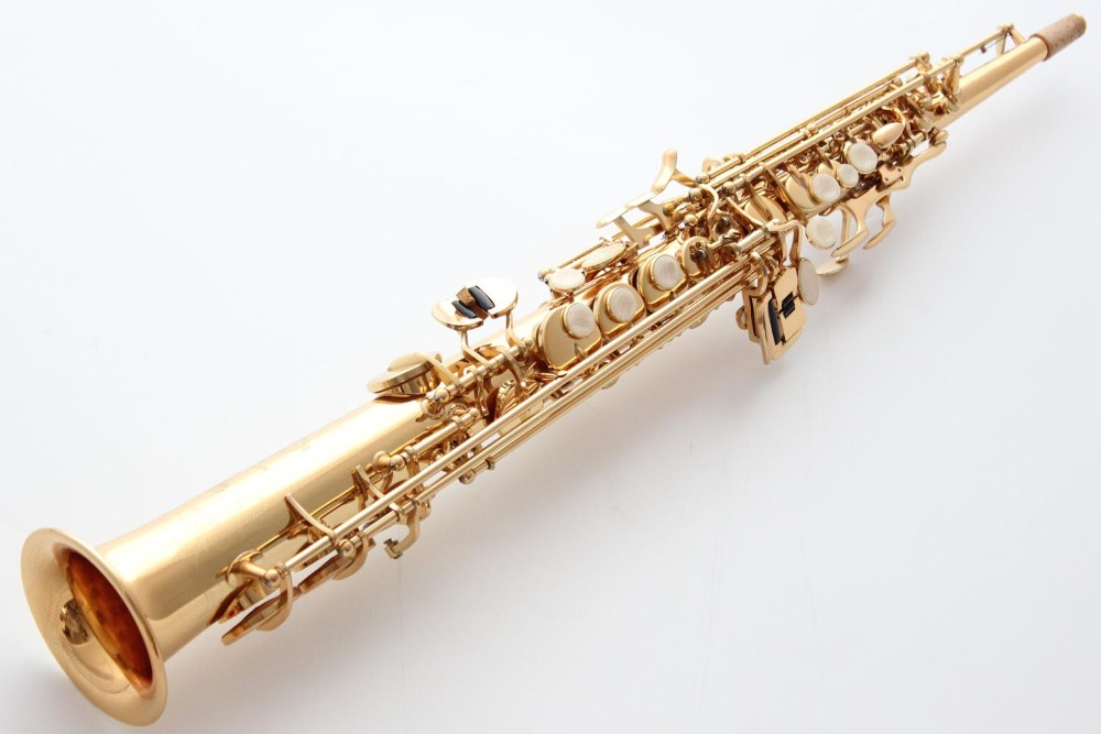 Hot Selmer Soprano Saxophone Selmer 802 good Sax Professional Mouthpiece & Reeds Bend Neck Professional performance