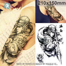 Body Art Waterproof Temporary Tatoo For Men And Women Zhao Yun Portrait Sketch Arm Pattern Large Arm Flash Tattoo Sticker LC2853