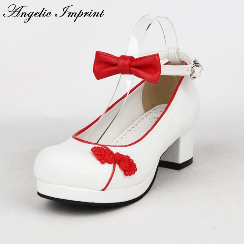 2016 New Chinese Style Square High Heel Lolita Cosplay Shoes Sweet Bowtie Ankle Strap Womens Shoes набор для творчества 4m фигурки из формочки динозавры от 5 лет 00 03514