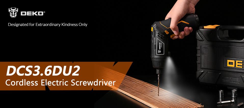 Destornillador electrico DCS3.6DU2 inalambrico con luz led