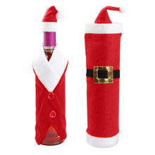 Hot Selling Christmas Santa Suit Wine Bottle Cover Wrap Hat Cap Holiday  Party New Years Decoration Bottle Gift Holders 3b08dfa649fe9
