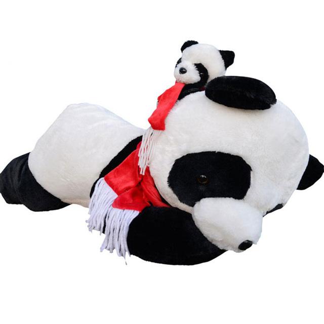 60 cm panda algodão Bow tie Forma Animal de pelúcia Recheado Travesseiro Travesseiros de Bebê