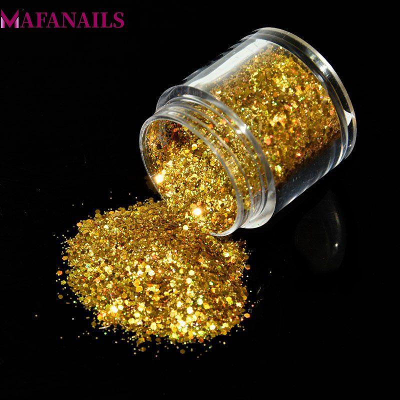 Geschickt 1 Box Holographische Nagel Power 10 Ml Gold Farbe Hologramm Laser Glitters Staub Pulver Maniküre Nail Art Dekorationen 12 Farben Fma01 Schönheit & Gesundheit