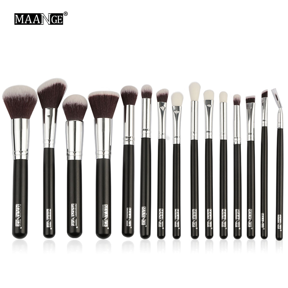 MAANGE Professional Makeup Brushes Set 1/8/15pcs Powder Eyeshadow Highlight Foundation Beauty Cosmetics Make Up Brush Tool Kits 2017 hot makeup brush set 10 pc makeup set kits brushes cosmetics brush tool professional beauty blush foundation blending