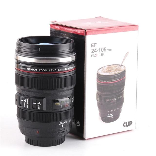 New Creative Camera Lens Coffee Tea Cups Mug Sport Silicone 400ML Travel  Water Cups And Mugs