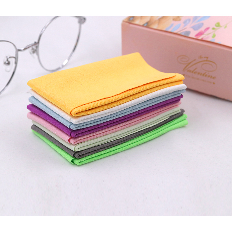 COLOUR_MAX 5Pcs Soft Chamois Glasses Cleaner Eyeglasses Microfiber Clean Cloth for Lens Phone Screen Cleaning Wipes image