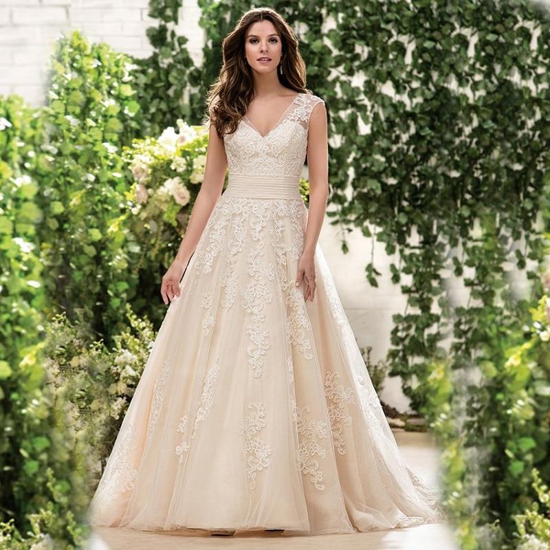 Open Back Lace A Line Wedding Dresses Cheap Unique Bridal Dresses Wd587 2017 chagne vintage lace a line wedding dresses