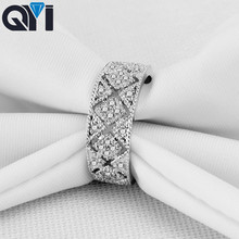 QYI Classic 925 Sterling Silver Finger Rings For Women DIY Jewelry Argent Engagement Rings Party Gift